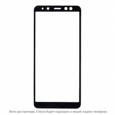 Защитное стекло 5Д на экран для Xiaomi Mi Mix 3 противоударное изогнутое чёрное