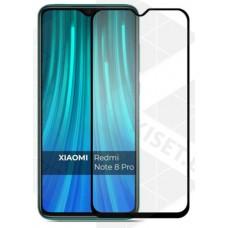 Защитное стекло 5Д на экран для Xiaomi Redmi Note 8 Pro противоударное