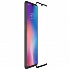 Защитное стекло 5Д на экран для Xiaomi Mi9 Lite противоударное изогнутое чёрное