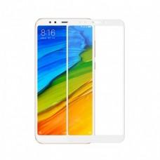 Защитное стекло на экран для Xiaomi Redmi  5 Plus противоударное изогнутое черное, белое