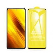 Защитное стекло 5Д на экран для Xiaomi POCO X3 противоударное